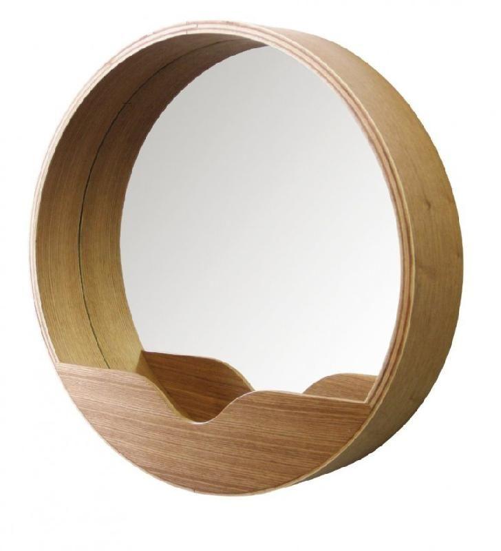 Miroir round wall 60 39 en bois diametre 60 cm for Miroir rond 60 cm