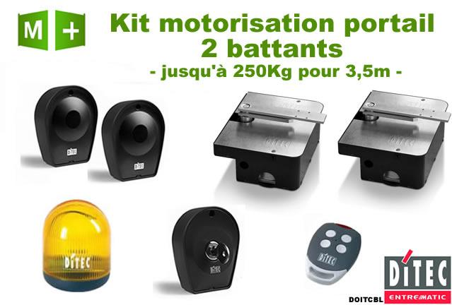 motorisation portail 2 battants enterr kit ditec doitcbl comparer les prix de motorisation. Black Bedroom Furniture Sets. Home Design Ideas