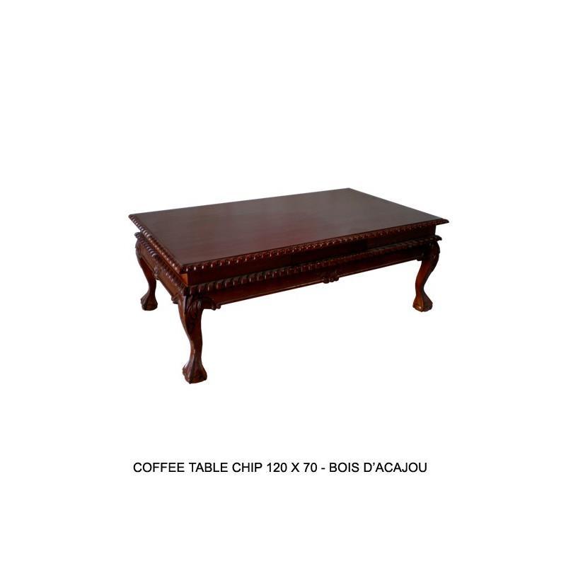 table basse de style en acajou chippendale. Black Bedroom Furniture Sets. Home Design Ideas