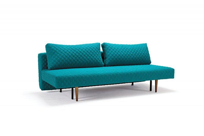 canape convertible lit innovation living recast bleu turquoise 200 140. Black Bedroom Furniture Sets. Home Design Ideas