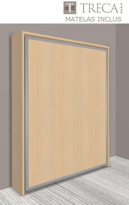 armoire lit escamotable cronos hetre matelas treca. Black Bedroom Furniture Sets. Home Design Ideas