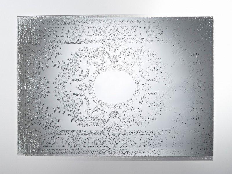 Mandala miroir mural design en verre for Argenture miroir