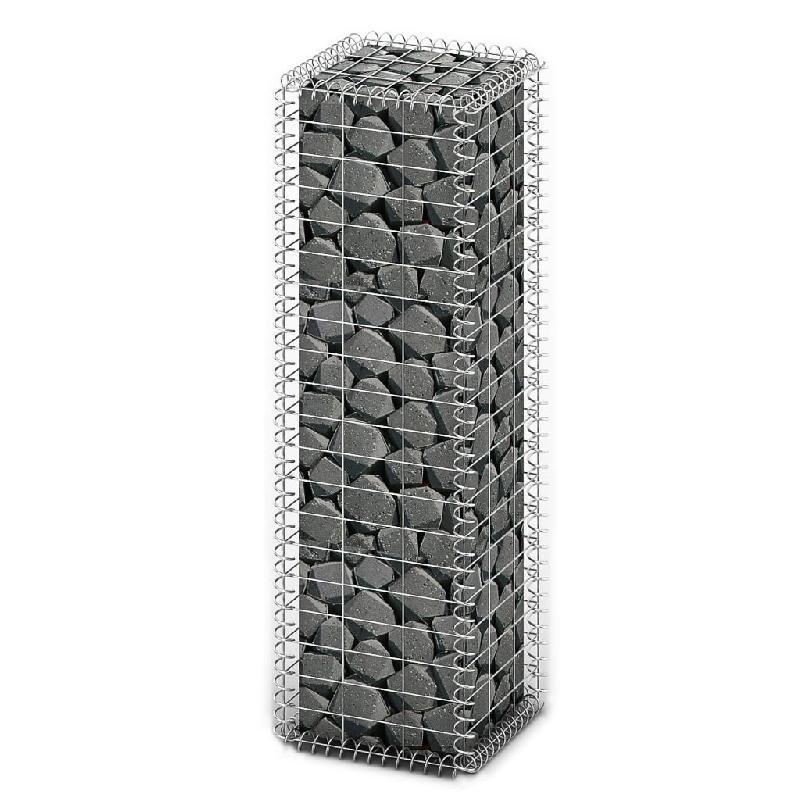 Vidaxl panier de gabion avec couvercle fil galvanisé 100 x 30 x 30 cm