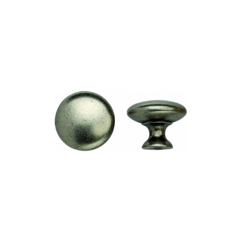 Bouton de porte et tiroir de meuble zamak fer 25mm for Meuble porte en fer