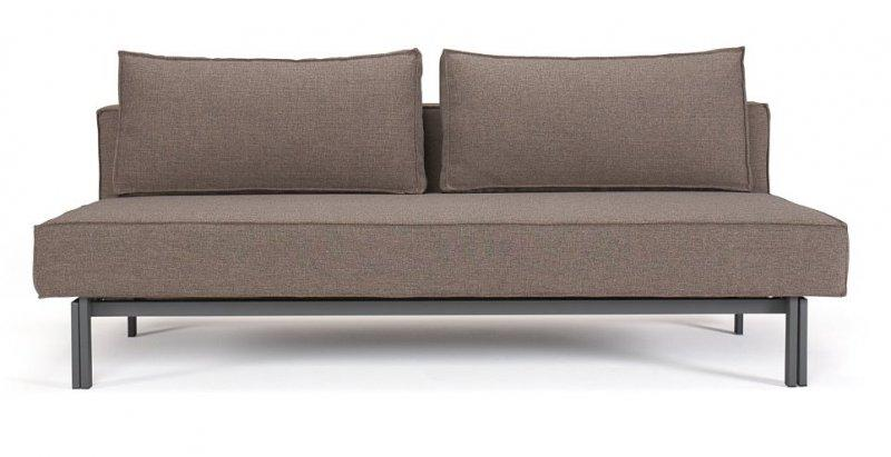 Canape lit design sly taupe innovation prix sympa - Canape lit 140 cm ...