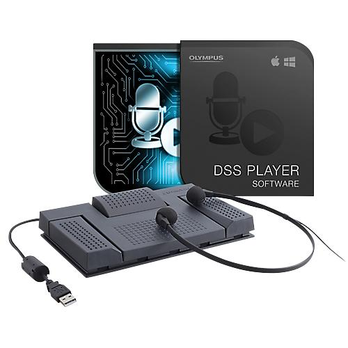 KIT DE TRANSCRIPTION OLYMPUS AS2400 DSSPRO  DSS  WAV  WMA  ET MP3