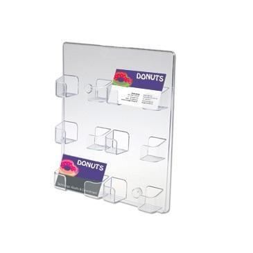 Présentoir cartes de visite mural 6 cases horizontales - réf.470900