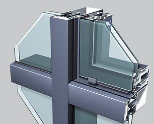 profiles en aluminium pour mur rideau elegance 52 it. Black Bedroom Furniture Sets. Home Design Ideas