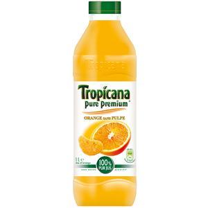 Tropicana jus d'orange pure prémium sans pulpe pet 1 litre