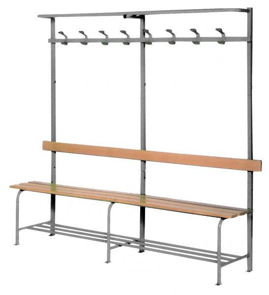 banc vestiaire monobloc gris. Black Bedroom Furniture Sets. Home Design Ideas
