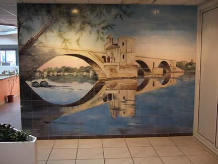 Revetements muraux en faience tous les fournisseurs for Fresque carrelage