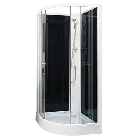 Cabine de douche porte coulissante tous les - Porte coulissante verre transparent ...