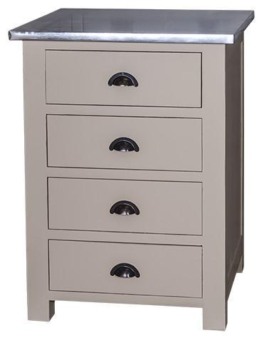 meuble bas de cuisine 39 39 mougins 39 39 z en bois massif plateau zinc comparer les prix de meuble bas. Black Bedroom Furniture Sets. Home Design Ideas