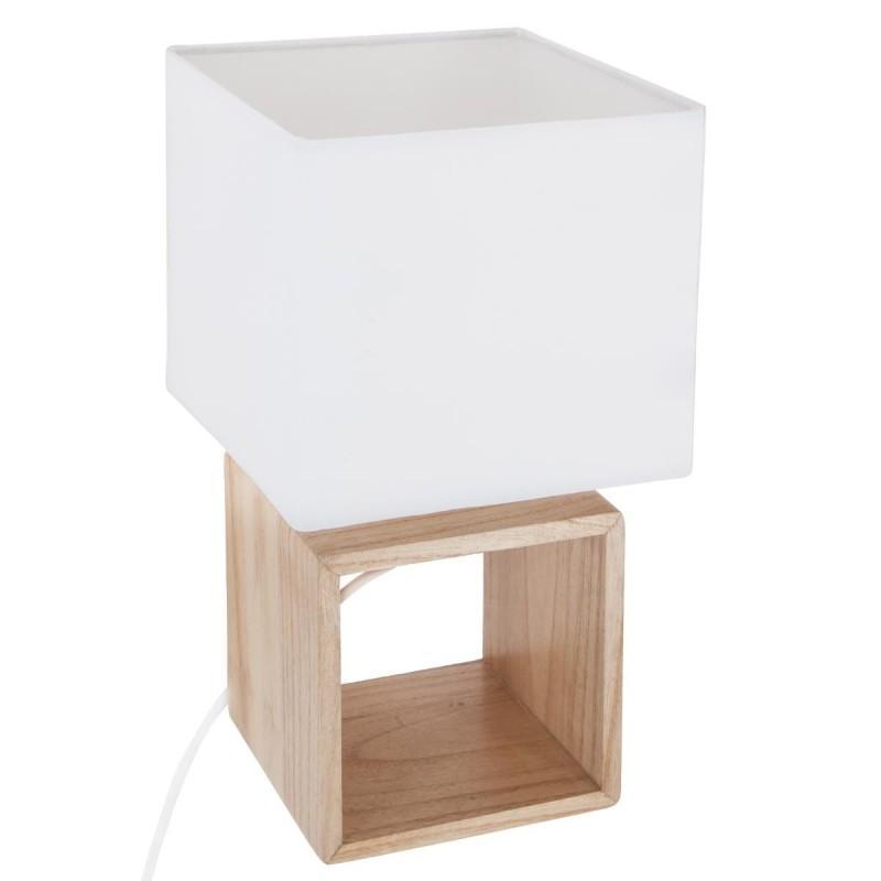 Lampe à poser carré 32cm beige - paris prix