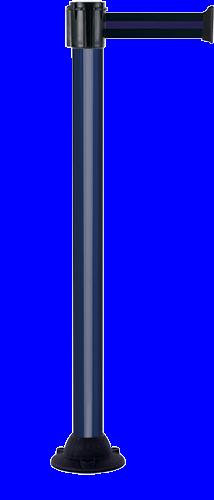 Poteau Alu Bleu laqué à sangle Noir/Bleu 4m x 50mm sur socle fixe - 2052146