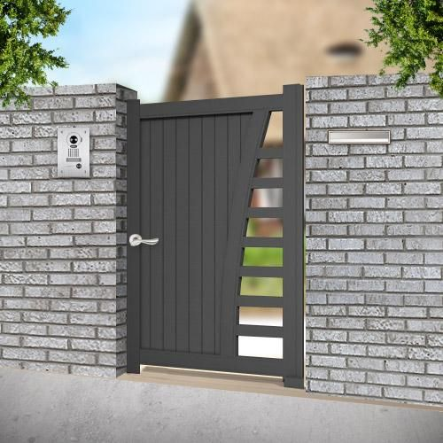D coration portillon alu anthracite saint paul 3337 for Portillon pvc gris anthracite pas cher