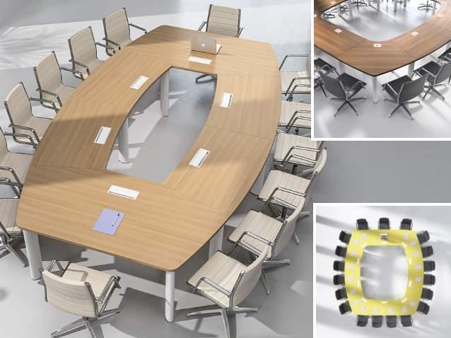 qualidesk produits de la categorie tables de reunions. Black Bedroom Furniture Sets. Home Design Ideas