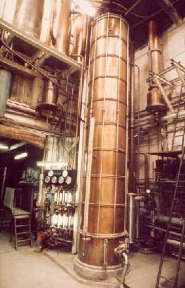 Colonne de distillation pour fabrication de tout alcool
