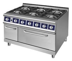 Fourneau gaz professionnel gamme 700 a 1100 avec ou sans four et pcf - Piano gaz professionnel ...
