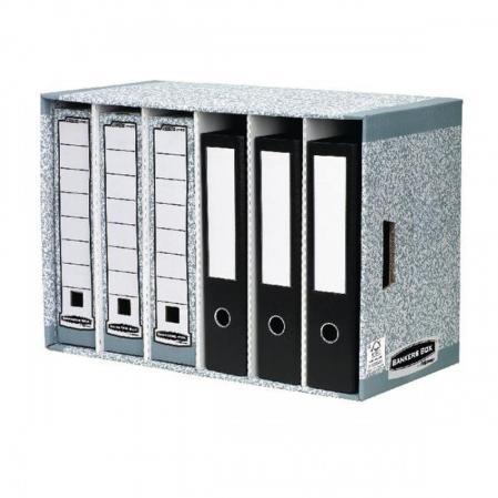 01880EU - MODULE DE RANGEMENT BANKERS BOX SYSTEM, 6 COMPARTIMENTS, EN CARTON RECYCLÉ