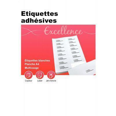 Boîte de 100 planches d\'étiquettes adresse multi-usages format mm. coin rond