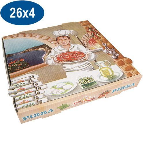 boite pizza en carton 26x26x4 cm comparer les prix de. Black Bedroom Furniture Sets. Home Design Ideas
