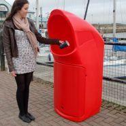 Combo delta - poubelle publique - glasdon - 140 litres