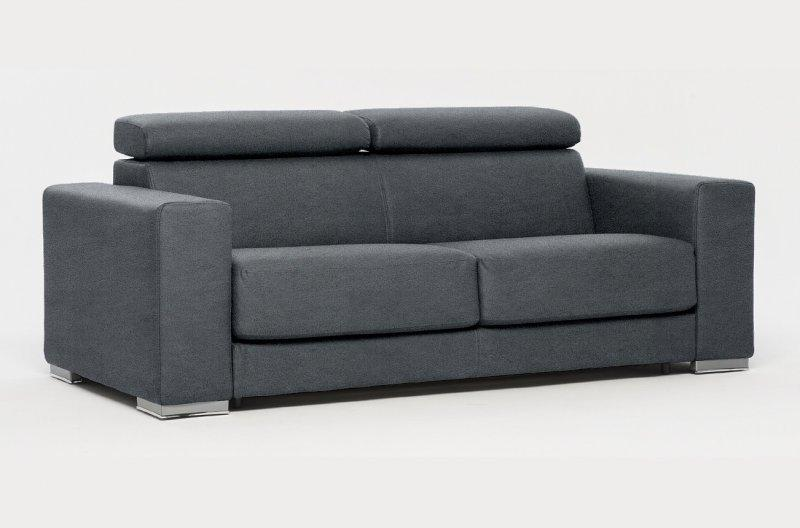 canape convertible expresso microfibre gris ouverture express couchage 130 cm. Black Bedroom Furniture Sets. Home Design Ideas