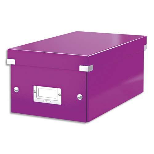 leitz bo te de rangement pour dvd click store coloris wow violet 60420062 comparer les prix de. Black Bedroom Furniture Sets. Home Design Ideas