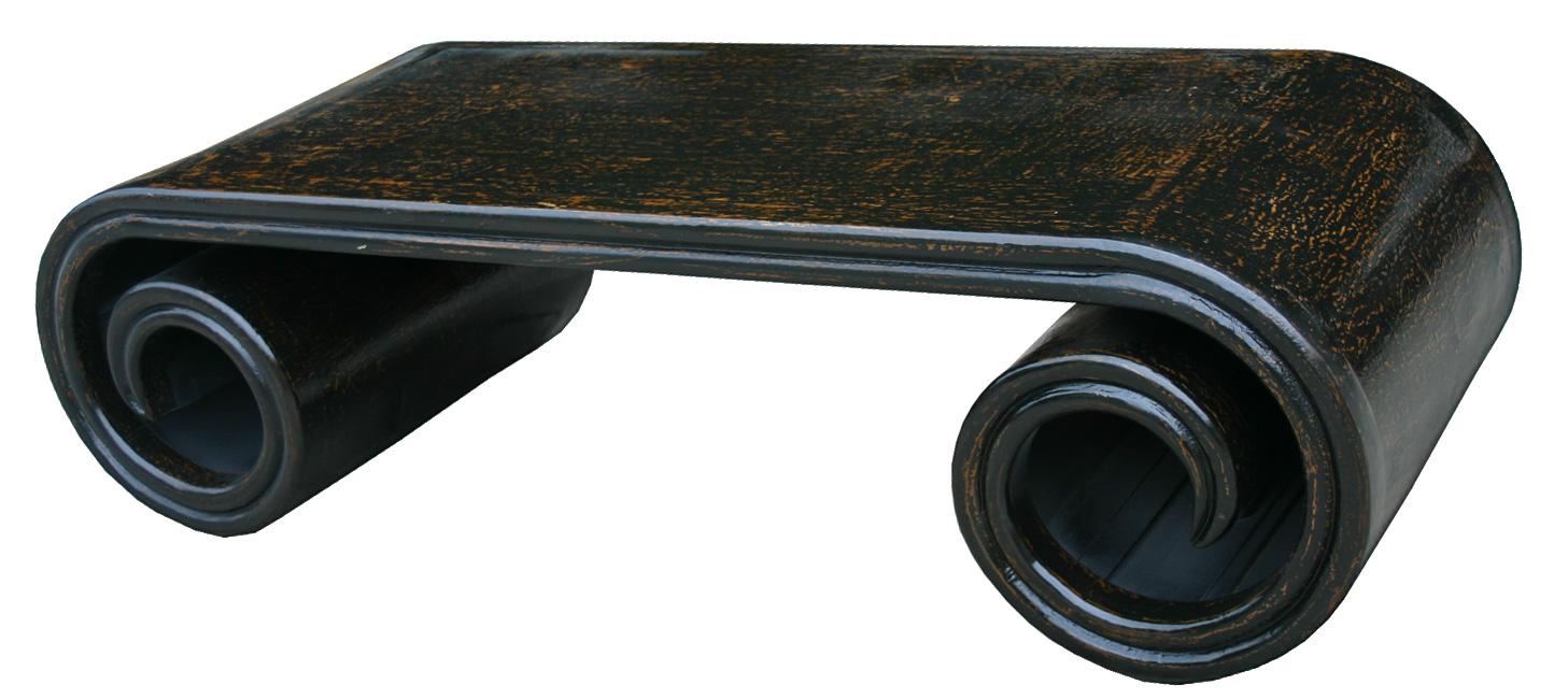 Table rouleau fine noir