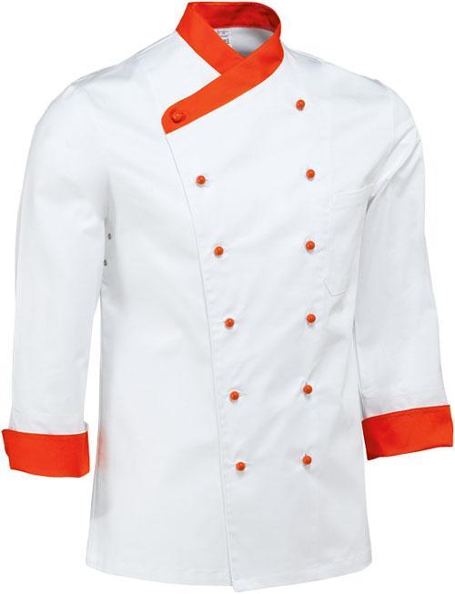 apercu de limage de veste de cuisine gino - Veste De Cuisine Orange