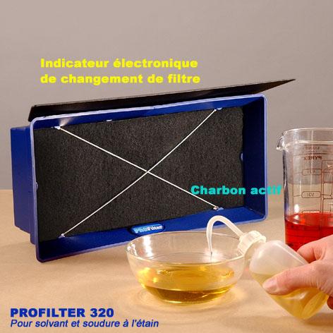 aspirateur de fumee profilter 320. Black Bedroom Furniture Sets. Home Design Ideas