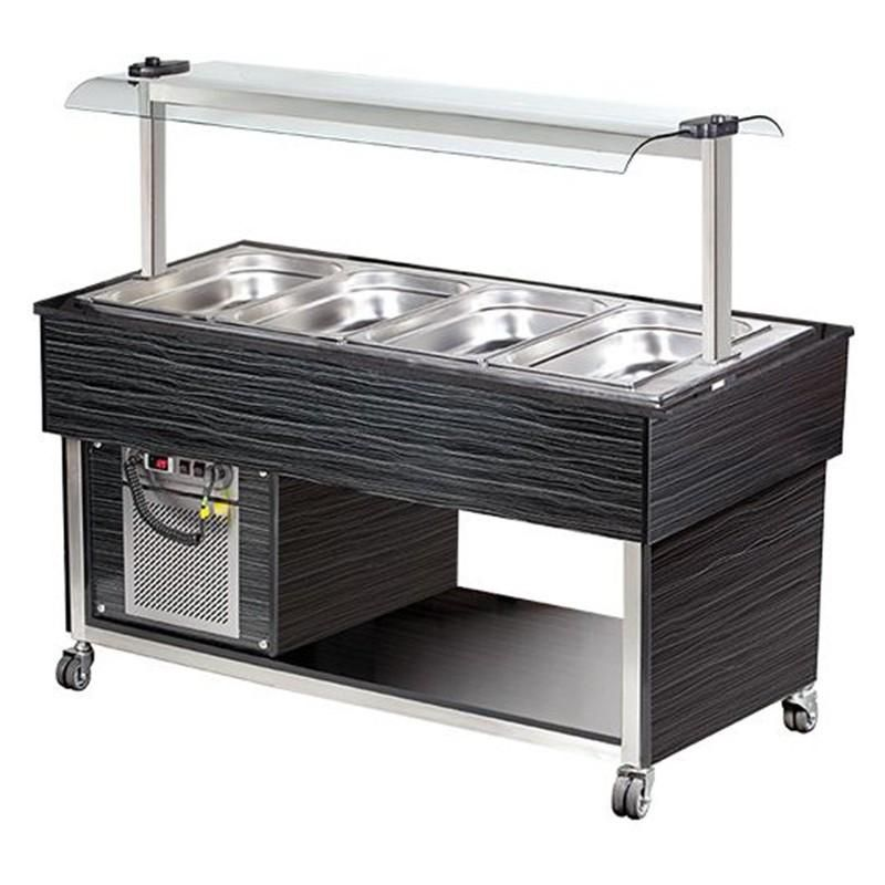 BUFFET FROID - 4 X 1/1 GN PROFESSIONNEL