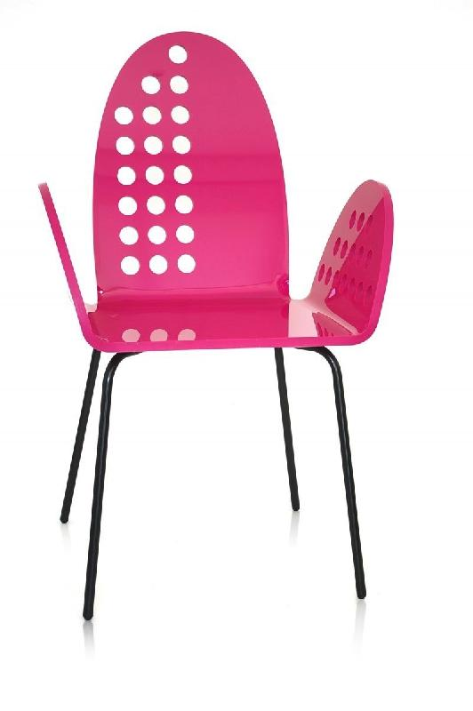cali chaise ronde rose plexiglass design acrila. Black Bedroom Furniture Sets. Home Design Ideas