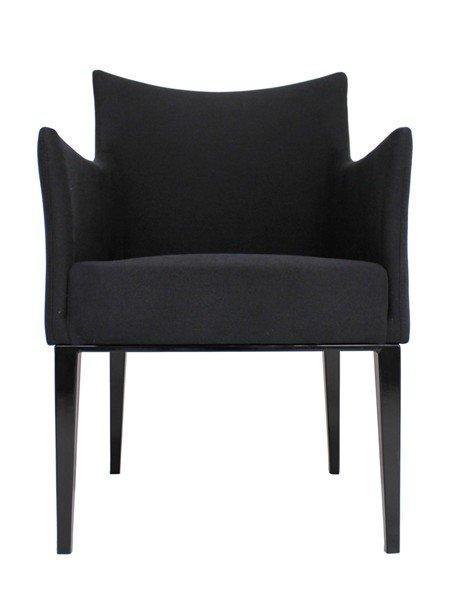 fauteuil queen design tissu noir. Black Bedroom Furniture Sets. Home Design Ideas