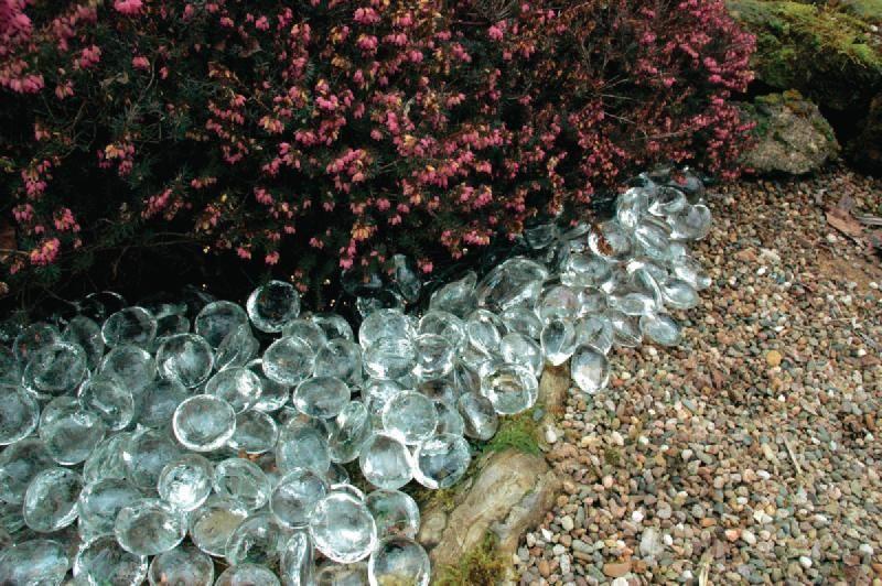 Galet de verre pearl - o30-45 mm - seau de 10 kg