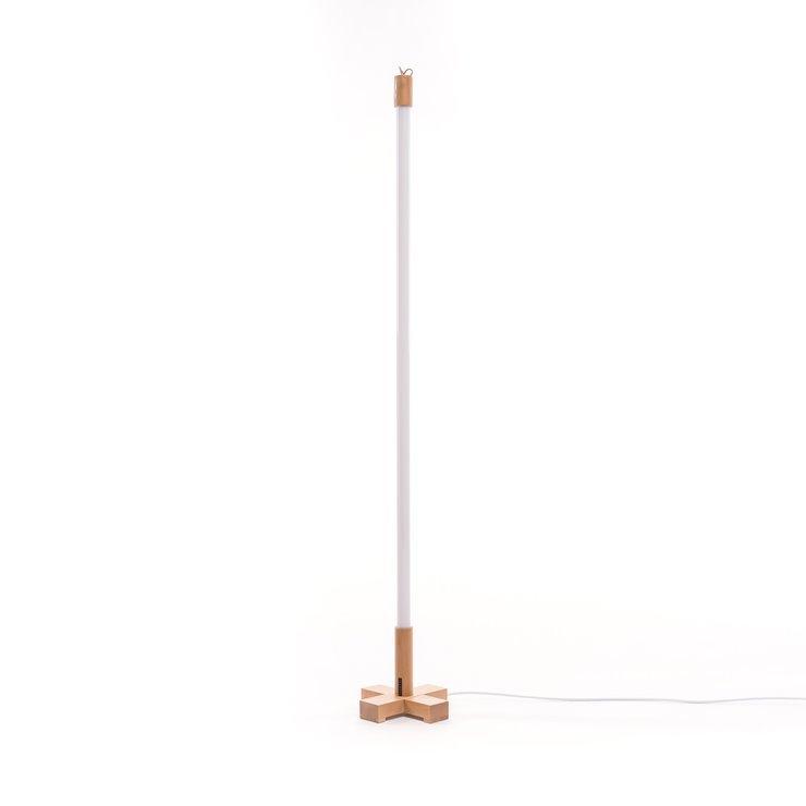 Base Led H140cm Seletti Baladeuse Lampe Bois Avec Néon Rose Linea tQCdsrxh