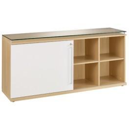 Cr dences de bureau comparez les prix pour for Glissiere porte coulissante meuble