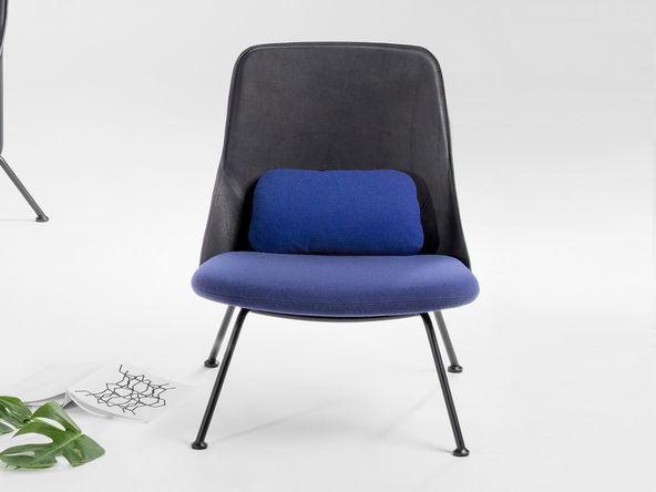 Prostoria Polygon Fauteuil : Fauteuil polygon piÈtement chromÉ noir assise en tissu