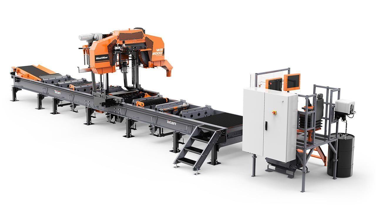 Wb2000 - scie industrielle - wood mizer france - puissance: 37kw moteur