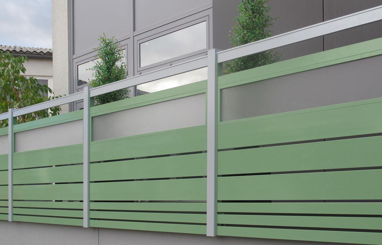 Garde-corps - staketto horizontal aluminium
