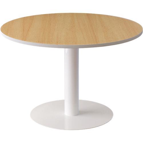 TABLE RONDE PAPERFLOW EASYOFFICE 1150 X 1150 X 750 MM IMITATION HÊTRE  BLANC