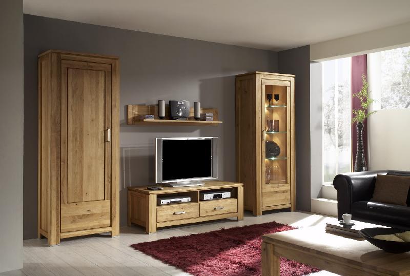 Meuble tv en chêne massif collection panama