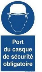 Panneau port du casque obligatoire comparer les prix de - Port du gilet de sauvetage obligatoire ...
