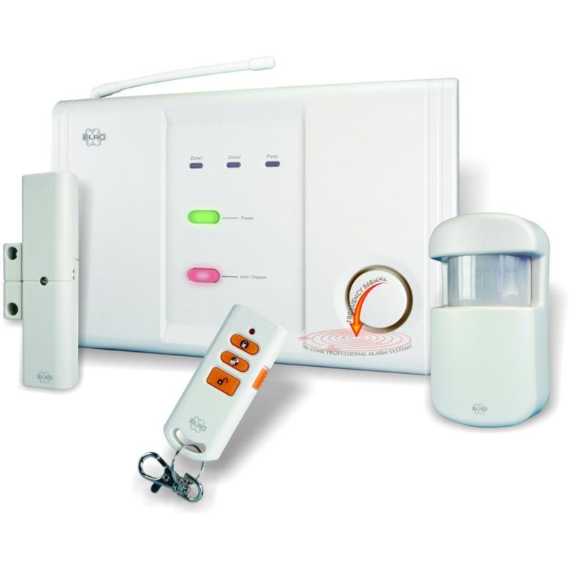 Alarme sans fil 2 zones for Alarme de maison sans fil