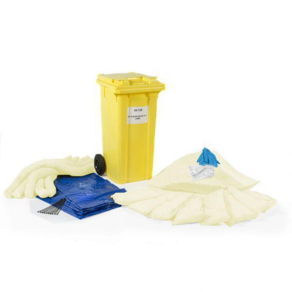 Conteneur 120l avec kit absorbants chimiques