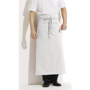 tablier de service 100 x 100 cm 100 coton blanc hiza. Black Bedroom Furniture Sets. Home Design Ideas