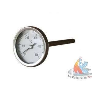 THERMOMÈTRE FOUR BOIS DE 0°C À 500 °C