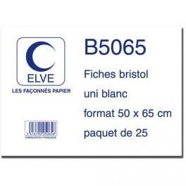 ELVE 25 FICHES BRISTOL 190G UNIE 50X65 CM - SOUS FILM