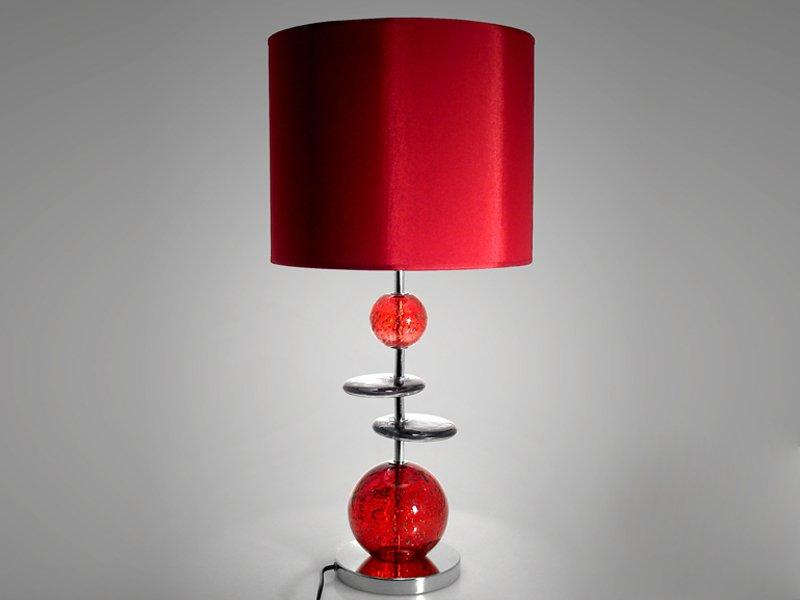 Lampe Volcanique Galet Rouge